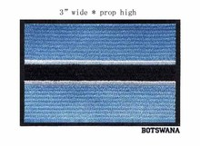 "Botswana 3"" wide embroidery flag patch  patches for blue color patch/clothes iron patches/stripes"