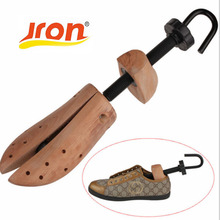 1 Piece New Arrival Plastic Solid Adjustable Men and Women Shoe Stretcher 2-Way Wooden Shoes Shaper Adjustable Tree SS-011(China)