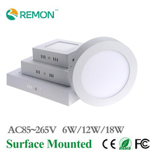 Newest  Surface Mounted Led Panel Light 6w 12w 18w Dimmable Round/Square LED Ceiling Spot Light AC85-265V LED Panel Lamp SMD2835