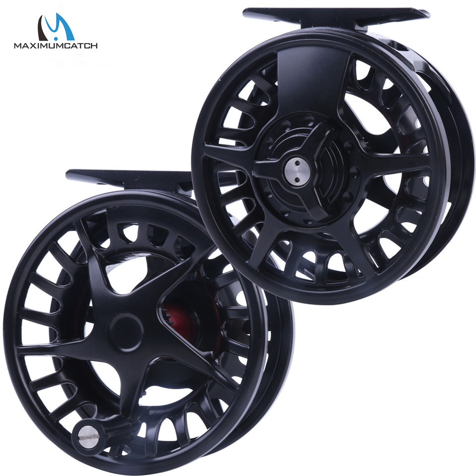 Maximumcatch DX 5/6/7/8WT Aluminum Fly Reel Right and Left-handed Fly Fishing Reel Black Color Fishing Reel<br>