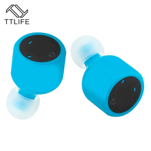 TTLIFE Brand Wireless Bluetooth Binaural Earphones Music Stereo Super Bass Earphone Mini Earplugs Sleep Earbuds X1T For phones(China)