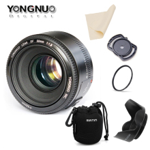In Stock!YONGNUO YN50mm f1.8 YN EF 50mm f/1.8 AF Lens YN50 Aperture Auto Focus for Canon EOS DSLR Cameras(China)