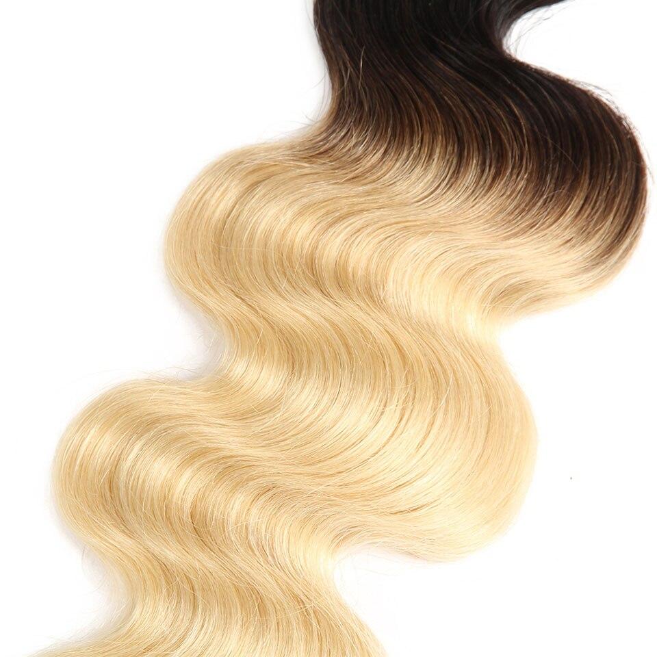 Sleek T1B613 Blonde Bundles Brazilian Hair Body Wave 100% Human Hair Extension 1 Pc Remy Hair 10 To 30 inch Free Shipping (3)