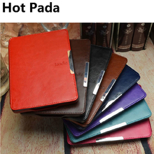 Hot Pada pu leather cover case for amazon kindle 4 case kindle 5 ereader kindle 4 case kindle 5 cover+screen protector(China)