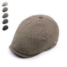 Brand Fashion Vintage Plaid Spring Autumn Sun Hats for Men Women High Quality Casual Cotton Women Beret Caps Newsboy Flat Hat(China)