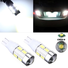 1Pcs Big Promotion T12 W16W 921 5630 SMD 8 Led  High Power White Projector Len Car Auto Tail Brake Parking Lights Lamp Bulb