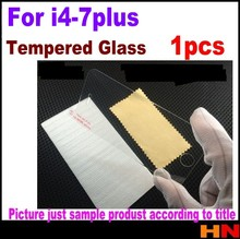 1pcs LCD Clear Tempered Glass Screen Protector Protective Film For iPhone 4 4s 5 6 7 Plus 5.5 inch With Retail Package(China)