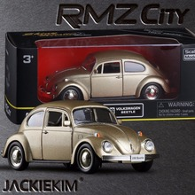 New RMZ City Diecast 1/32 Volkswagen Beetle 1967 Local tyrants gold edition with Pull Back Car Model Toy Kids Gift Collection(China)