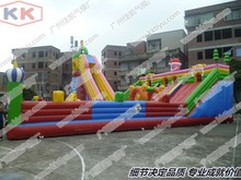 Multi Functional Inflatable Fun City Challenging Playground With Slides