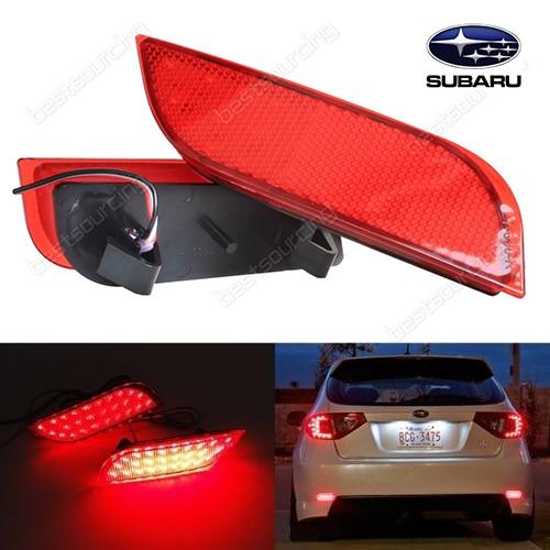 2x 26 SMD Red LED Bumper Reflectors Tail Stop Brake Light Subaru Impreza WRX STI<br><br>Aliexpress