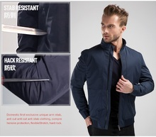 New Design Fashion Men Jacket Style Hack Resistant Vest Self Defense Personal Protection Cut Resistant Security Guard Equipment(China)