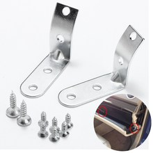 Kit Silver Glove Box Hinge Repair For Audi A4 S4 RS4 B6 B7 8E 2002 2003 2004 2005 2006 2007 2008(China)