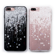 Buy Shiny snowflakes glitter phone Cases iphone X 7 8 7/8Plus Bling Sequins silicon case iphone 6 6s 6Plus back cover for $3.98 in AliExpress store