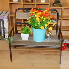 Crafts Wooden Chairs Model Ornaments Potted Flower Pots Shelf Storage Rack Balcony Oversized Flower Garden Ornaments Gard