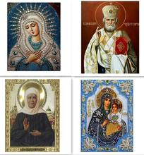 5D Round diamond painting & diy diamond painting cross stitch Home Decor diamond embroidery mosaic religious for people gift(China)