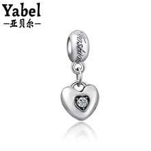 Sterling Sliver Plated Jewelry White LOVE Pendant Beads Fit Diy Original Pandora Necklace Charm Bracelet Women Gifts Accessories(China)