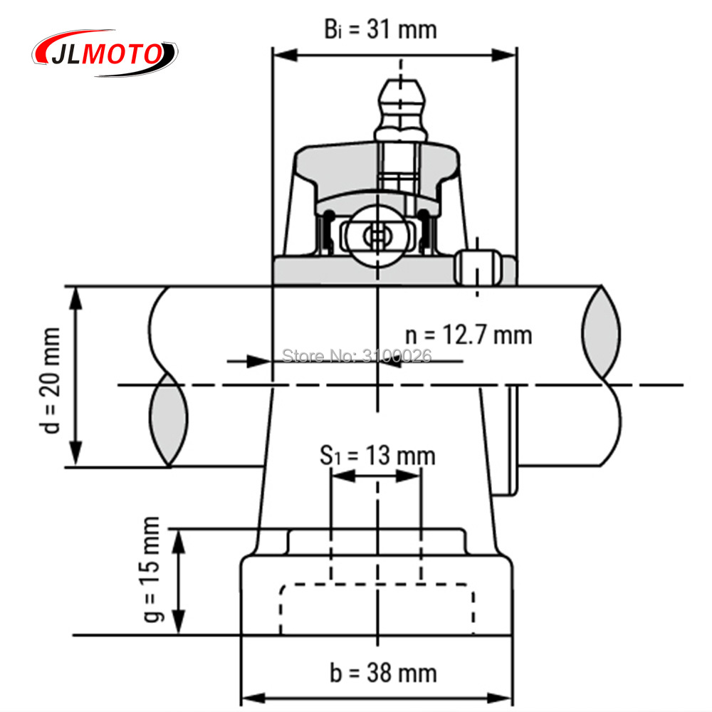 JLG-065-7-BEARING-WITH-BRACKET-UCP204-BUGGY-PARTS