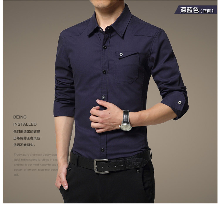 Famous Camisa Male Shirts Long Sleeve Men Shirt Fashion Casual Business Formal Shirt Chemise Homme Autumn Brand Clothing (11)