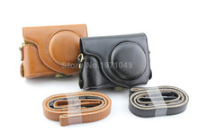 PU Leather Case Camera Bag For Casio ZR1000 ZR1100 ZR1200 ZR1300 ZR1500 Digital Camera With Shoulder Belt