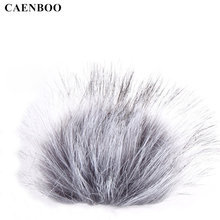 CAENBOO DR 05 Recording Pen Windshield Microphone Wind Proof Cover Furry Fur Windscreen Muff Mic For TASCAM DR-05 Video Pen(China)