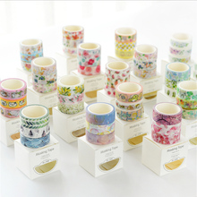 3Pcs/Box 1.5cm*5m Fresh Pattern Floral washi tape DIY decoration scrapbooking Planner masking tape adhesive kawaii stationery