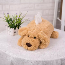 Candice guo! Super cute plush toy papa Teddy dog doll creative soft puppy tissue box paper cover birthday gift 1pc