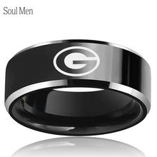 Black Tungsten Wedding Band Georgia Bulldogs Primary Design Comfort Fit 8mm Male Special Sport Ring Size 7 to 13