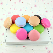 1PC Kawaii Soft Dessert Macaron Squishy Cute Toys Pretend Kitchen Toys Artificial Macaroons Toys Random Color ETWJ18