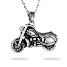 Biker Antique Men Necklaces Pendants Steampunk Bike motorcycle Necklace For Men Jewelry Punk Rock Stainless Steel