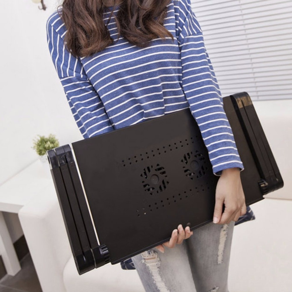 Portable 360 Degree Adjustable Laptop Notebook Table Stand Tray Lazy Foldable Aluminum Alloy Computer Desk  Hot New<br>
