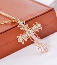 BS1981 Accessories vintage exquisite cross necklace