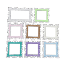 Home Floral Switch Cover Square Shape Switch Wall Light Socket Stickers Room 86*86mm Great decor white Mint green Pink Blue(China)