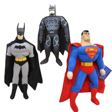 "1pc 8"" 25cm Hot Sell Toy Spiderman, Batman, Superman,High Quality,Plush Toy, Children's Christmas Gift Kids Cartoon Figure Doll(China)"