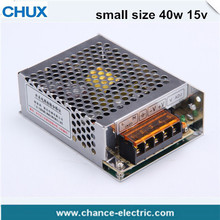 Chinese factories for straight discount price single output LED DC Switching Power Supply smaller series 40W 15V MS-40W-15V(China)