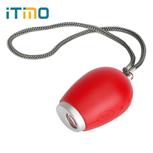 ITimo LCD Clock Lamp Red Light Best Gift For Kids Children Mini Keychain Light Projection Novelty Lighting Portable Torch(China)