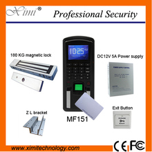 Biometric fingerprint access control and time attendance system MF151 TCP/IP communication ID Card fingerprint door lock(China)