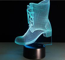 Creative gym shoes LED 3D Night Light illusion Kids Bedroom Living room Bedlamp Table Lamp with touch button dropshipping
