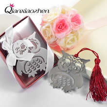 10pcs Owl Bookmark Wedding Favors And Gifts Wedding Supplies Wedding Souvenirs Wedding Gifts For Guests Party Favors(China)