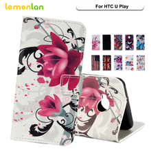 Lemonlan For HTC U Play Phone Case Fashion Owl Plum Flip Wallet PU Leather Stand Cover For HTC Desire EYE m910X Bag Shell(China)