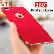 luxury hard back plastic matte cases for iphone 7 case plating shockproof phone shell For iphone 7 Plus cover red Protector bag