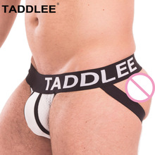 Buy Taddlee Brand Men Jockstraps Briefs Boxer Bikini Low Rise Mesh Sexy Jocks Underwear Gay Penis Pouch WJ Buttocks Solid G-stringes