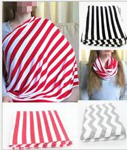 Multifunctionl New Nursing Cover Mother Breast Feeding cotton Maternity Nursing Apron Breastfeeding Covers Yellow Pink Chevron(China)