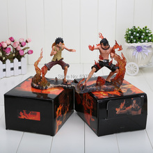 2pcs/set 14cm/5.5inch Japanese Anime Figures One Piece DX Brotherhood figures Luffy+Ace Figures PVC set of 2pcs