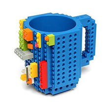 DIY Creative Plastic Mug,building blocks assembled cups fun practical coffee mugs , Puzzle mug Christmas Adult Kids Toy cup