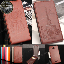 For SONY Xperia C S39H C2305 C 2305 2305 Case 5.0Luxury Elegant Windbell Tower Embossing Leather vertical flip protective cover