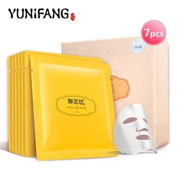 Лицо уход за кожей YUNIFANG мед маска для лица минеральная шелк увлажняющий увлажняющий отбеливания 30 мл * 7 шт.