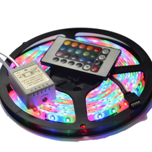 5M Waterproof SMD 2835 LED Strip 60 LEDs/M DC 12V RGB Strip + 24 Key Controller + RGB Control Box