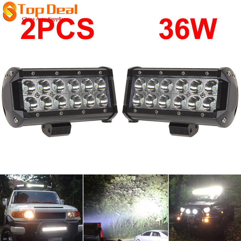 2pcs 7INCH 36W  LED Work Light Bar Flood Beam Offroad SUV Car Boat Driving Lamp<br><br>Aliexpress