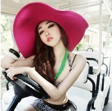 HOT Style freeshipping adult women girls fashion big sun hat summer beach hat Accessories(China)