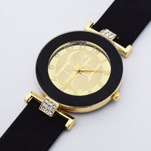 Hot sale Fashion Brand Gold Geneva sport Quartz Watch Women dress casual Crystal Silicone Watches montre homme relojes hombre